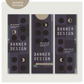 Creative banner template set design — Stock Vector