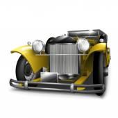 Classic yellow car — Stock Vector