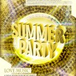 Gorgeous summer party poster design — Stock Vector #78791254