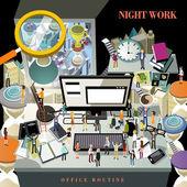 Work overtime concept — Stock Vector