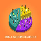 Focus group statistics — Stock Vector