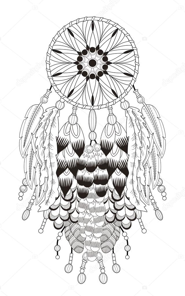 Dreamcatcher Coloring Pages Home Sketch Coloring Page