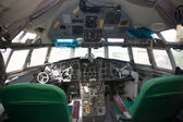 Superannuated aircraft cockpit interior — Stock Photo