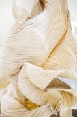 Abstract shapes of a paper ornamental object, like a sculpture — Stock Photo