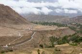 View from Likir monastery, Ladakh, India — Stock Photo