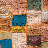 Asian patchwork carpet in Leh, Ladakh, India — Stock Photo