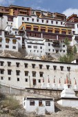 Tiksey Monastery is a Buddhist monastery in Ladakh, India ,  — Stock Photo