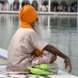 Sikh man visiting the Golden Temple in Amritsar, Punjab, India. — Stock Photo #59331875