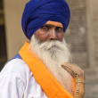 Sikh man visiting the Golden Temple in Amritsar, Punjab, India. — Stock Photo #59333605