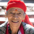 Old local woman in Manali, India — Stock Photo #60637001