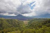 Landscape of Batur volcano on Bali island, Indonesia — Stock Photo