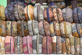 Souvenirs in the form of pillows in island Bali, Indonesia — Stock Photo