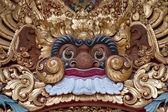 Wooden sculpture of the demon in the temple in Ubud, Bali, Indonesia — Stock Photo