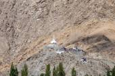 Tall Shanti Stupa in Leh, Ladakh, India — Stock Photo