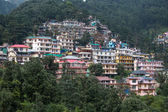 Houses at Himalaya mountains in Dharamshala, India  — Stock Photo