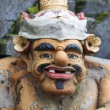 Closeup of traditional Balinese God statue in Central Bali temple — Stock Photo #69890065