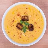 Apple pumpkin cream soup — Stock Photo
