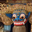 Closeup of traditional Balinese God statue in Central Bali temple — Stock Photo #70107785