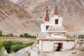Tall Shanti Stupa in Chemdey gompa, Buddhist monastery, Ladakh, Jammu & Kashmir, India  — Stock Photo