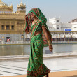 Rajasthani woman visiting the Golden Temple in Amritsar, Punjab, India. — Stock Photo #70980537