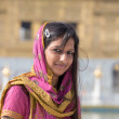 Rajasthani woman visiting the Golden Temple in Amritsar, Punjab, India. — Stock Photo #70981211