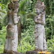 Traditional stone sculpture in garden . Island Bali, Ubud, Indonesia — Stock Photo #71056205