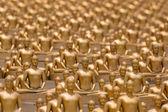 Million golden Buddha figurine in Wat Phra Dhammakaya. Buddhist temple in Bangkok, Thailand — Stock Photo