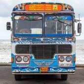Regular public bus from Matara to Kamburupitiya. Buses are the most widespread public transport type in Sri Lanka. — Stock Photo