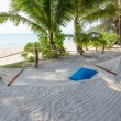 Tropical beautiful beach and hammock on the island Koh Kood, Thailand — Stock Photo #71179211
