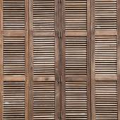 Background latticed wooden doors in the tropical house — Stock Photo
