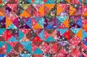 Colorful crazy quilt for sale, Island Bali, Ubud, Indonesia — Stock Photo