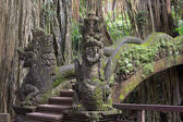 Famous dragon bridge in sacred monkey forest in Ubud, Bali, Indonesia. — Stock Photo