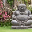 Traditional stone sculpture in garden . Island Bali, Ubud, Indonesia — Stock Photo #71472197