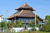 Tropical beach house on the island Bali, Indonesia — Stock Photo