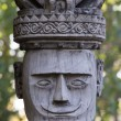 Traditional wooden sculpture in the temple in Ubud, Bali, Indonesia — Stock Photo #71990973