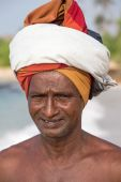 Portrait fisherman in South Sri Lanka — Stock Photo