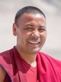 Tibetan Buddhist monk in Ladakh. India — Stock Photo