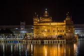 Golden Temple in Amritsar at night.  India — Stock Photo