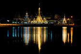 Wat Jong Klang Temple at night,  Thailand — Stock Photo