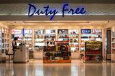 Duty free shop at Suvarnabhumi International Airport. Bangkok — Stock Photo