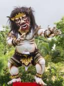 Balinese ogoh-ogoh monster al Capodanno di Balinese, Indonesia. — Foto Stock