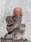 Erotic sculpture in Bali, Indonesia — Stock Photo