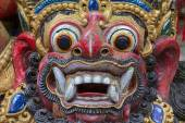 Closeup of traditional Balinese God statue. Bali temple. Indonesia — Stock Photo