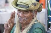 Old local man in Bangkok, Thailand — Stock Photo