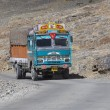 Truck on the high altitude Manali - Leh road , India — Stock Photo #74268451