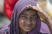 Local young girl in Manali, India — Stock Photo