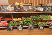 Selection vegetables in a supermarket Siam Paragon in Bangkok, Thailand.  — Stock Photo