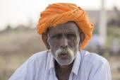 Portrait Indian man. Pushkar, India — Stock Photo