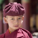 Portrait Tibetan Buddhist young monk in Hemis monastery, Ladakh, North India — Stock Photo #77802970
