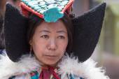 Tibetan Buddhist women in national dress. Hemis monastery, Ladakh, North India — Stock Photo